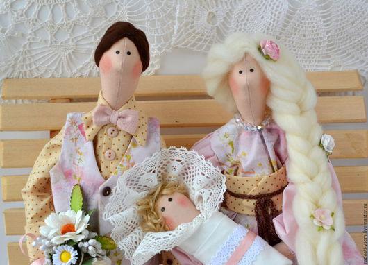 Куклы Тильды ручной работы. Ярмарка Мастеров - ручная работа. Купить Тильда семья! Портретные куклы.Пастельные тона. Handmade.