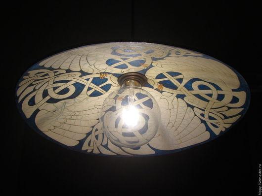 Освещение ручной работы. Ярмарка Мастеров - ручная работа. Купить Журавлиный клин.Подвесной керамический светильник.. Handmade. Тёмно-синий