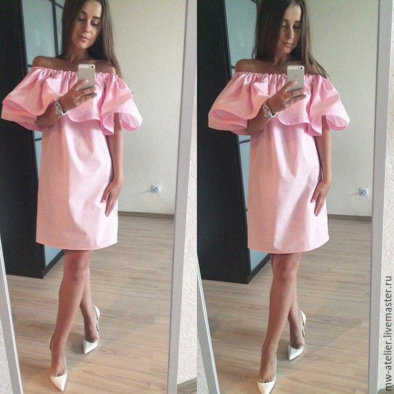 Как сшить летнее розовое платье