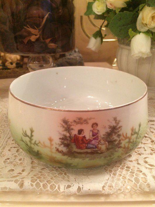 Винтажная посуда. Ярмарка Мастеров - ручная работа. Купить фарфоровая полоскательница, Вербилки, бывший Га. Handmade. Зеленый, 1920-е