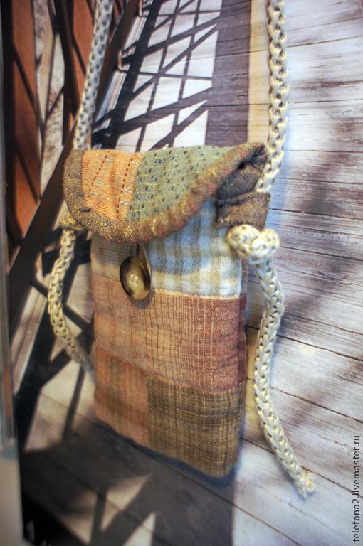 """Для телефонов ручной работы. Ярмарка Мастеров - ручная работа. Купить Лоскутная сумочка для телефона """"В японском стиле 2"""". Handmade."""