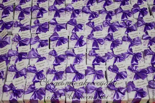Свадебные аксессуары ручной работы. Ярмарка Мастеров - ручная работа. Купить Бонбоньерка, с карточкой. Handmade. Бледно-розовый, коробочка