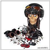 Субкультуры handmade. Livemaster - original item For the Skull stand-Helmet, sweaters, glasses, badges, pendants .... Handmade.