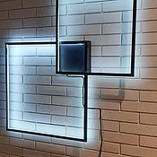 Настенные светильники ручной работы. Ярмарка Мастеров - ручная работа Экологичный, энергосберегающий настенный светильник в стиле лофт. Handmade.