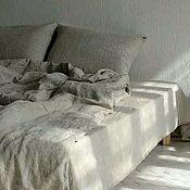 Для дома и интерьера handmade. Livemaster - original item Soft linen made of washed linen. Handmade.
