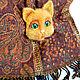 Броши ручной работы. Брошь Рыжий кот. Светлана (wetka1969). Интернет-магазин Ярмарка Мастеров. Брошь ручной работы