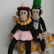 Куклы и игрушки ручной работы. Ярмарка Мастеров - ручная работа вязаные Обезьянки. Handmade.