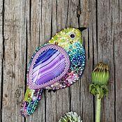 """Украшения ручной работы. Ярмарка Мастеров - ручная работа брошь """"Птичка яркая"""". Handmade."""