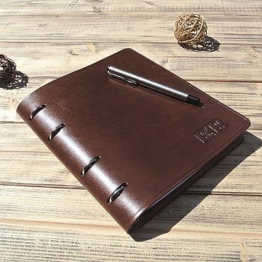 Stationery handmade. Livemaster - original item Personal notebook of leather A5 format. Handmade.