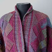 Одежда handmade. Livemaster - original item Cardigan Burgundy. Handmade.