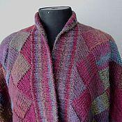 Одежда ручной работы. Ярмарка Мастеров - ручная работа Кардиган вязаный Бордовый. Handmade.