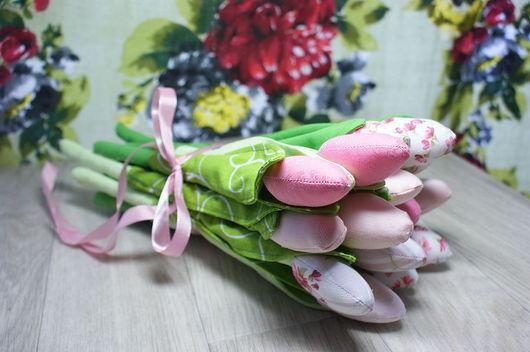 Цветы ручной работы. Ярмарка Мастеров - ручная работа. Купить Тюльпаны. Handmade. Букет, подарок на 8 марта