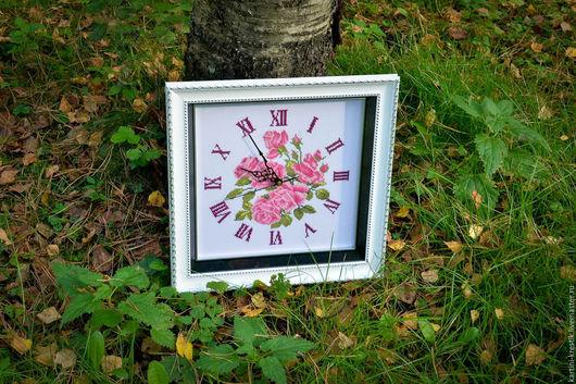 """Часы для дома ручной работы. Ярмарка Мастеров - ручная работа. Купить Часы """"Нежные розы"""". Handmade. Часы, розы"""