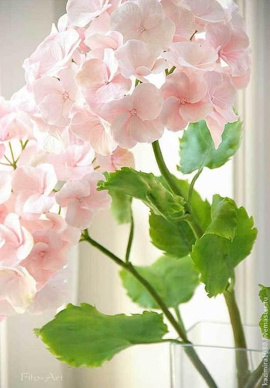Цветы ручной работы. Ярмарка Мастеров - ручная работа. Купить Розовая гортензия. Керамическая флористика. Handmade. Розовый, для дома