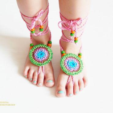 """Обувь ручной работы. Ярмарка Мастеров - ручная работа Украшение на ножки """" Этно """". Handmade."""