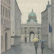 "Картины и панно handmade. Livemaster - original item Плакаты и постеры ""Hofburg"" акварельный рисунок 30 х 20. Handmade."