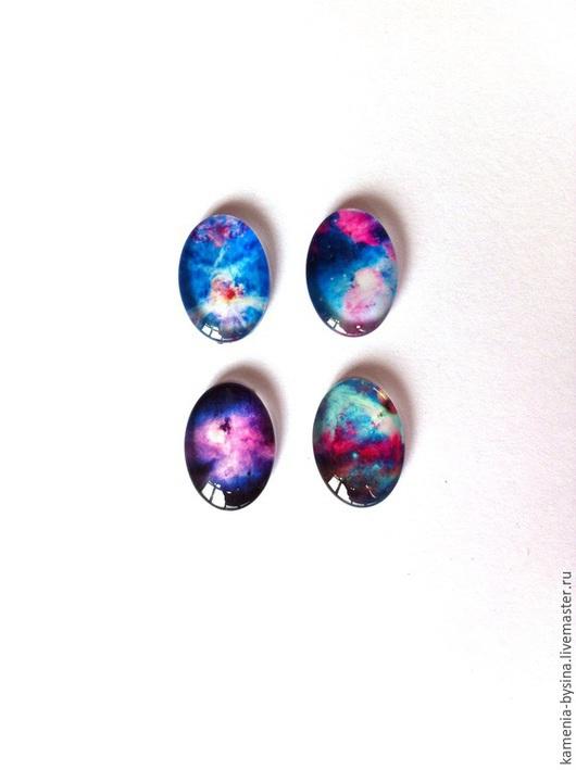Для украшений ручной работы. Ярмарка Мастеров - ручная работа. Купить Кабашон, стекло, 4 вида, 13х18 мм. Handmade.