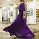 Платья ручной работы. Ярмарка Мастеров - ручная работа. Купить Платье темно-фиолетовое.. Handmade. Тёмно-фиолетовый, платье в пол