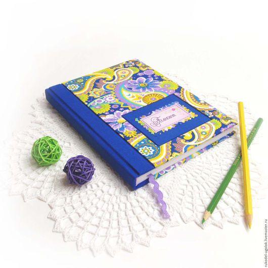 """Блокноты ручной работы. Ярмарка Мастеров - ручная работа. Купить Блокнот для записей """"Ежевичный"""". Handmade. Тёмно-синий, синий"""