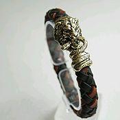 Украшения handmade. Livemaster - original item Bracelet made of genuine leather Leo. Handmade.
