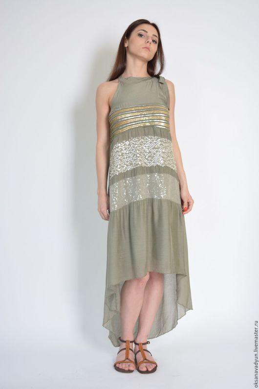 Платья ручной работы. Ярмарка Мастеров - ручная работа. Купить Платье hot summer. Handmade. Бежевый, дизайнерская одежда