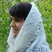 Аксессуары handmade. Livemaster - original item 72 Klondike downy Snow -the snow, the downy shawl, accessories,scarf. Handmade.