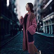 Одежда ручной работы. Ярмарка Мастеров - ручная работа Свободный кардиган с большими карманами для многослойных образов. Handmade.