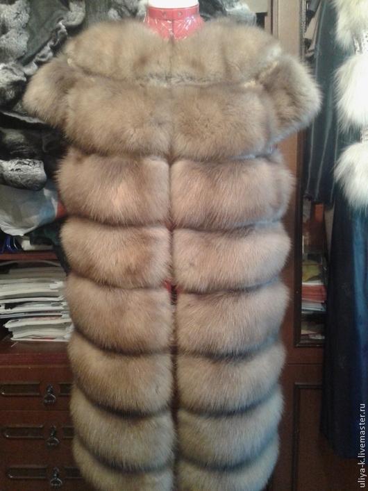 Верхняя одежда ручной работы. Ярмарка Мастеров - ручная работа. Купить жилет из куницы. Handmade. Меховой жилет, мех натуральный