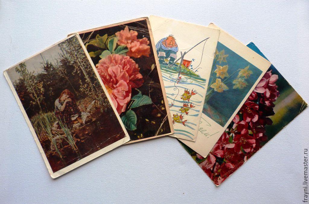 Открытки, цена винтажных открыток