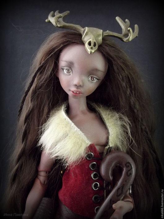 Коллекционные куклы ручной работы. Ярмарка Мастеров - ручная работа. Купить Охотница. Шарнирная кукла. Handmade. Коричневый, авторская кукла