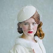 Свадебный салон ручной работы. Ярмарка Мастеров - ручная работа Ретро шляпка с вуалью. Handmade.