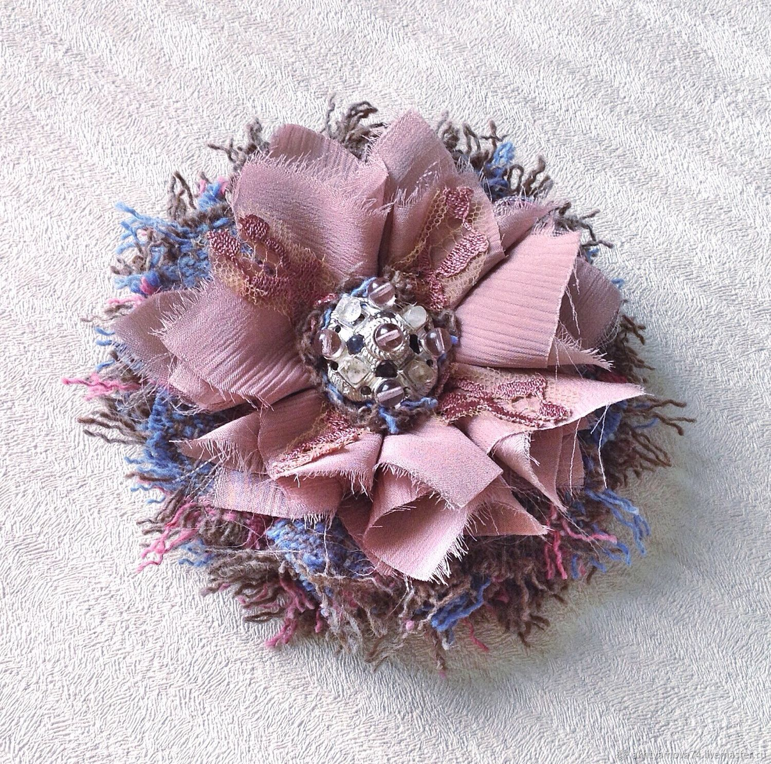 Brooch flower Nuar, Brooches, Moscow,  Фото №1