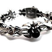 Фаланговое кольцо ручной работы. Ярмарка Мастеров - ручная работа Браслет из серебра Savage AZB-007. Handmade.