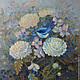 Животные ручной работы. Ярмарка Мастеров - ручная работа. Купить Картина маслом Синяя птичка 50х50 см. Handmade. Птичка