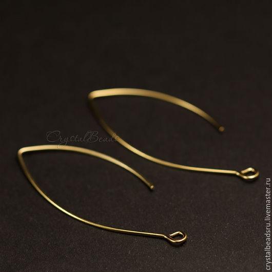 Швензы крючки удлиненные, латунь, покрытие родий, гипоаллергенные швензы, фурнитура Южная Корея.