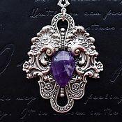 Украшения handmade. Livemaster - original item Suspension viola Purple amethyst. Handmade.