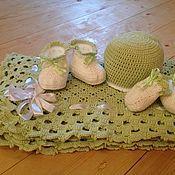 """Работы для детей, ручной работы. Ярмарка Мастеров - ручная работа Комплект для новорожденных """"Фисташковая нежность"""". Handmade."""