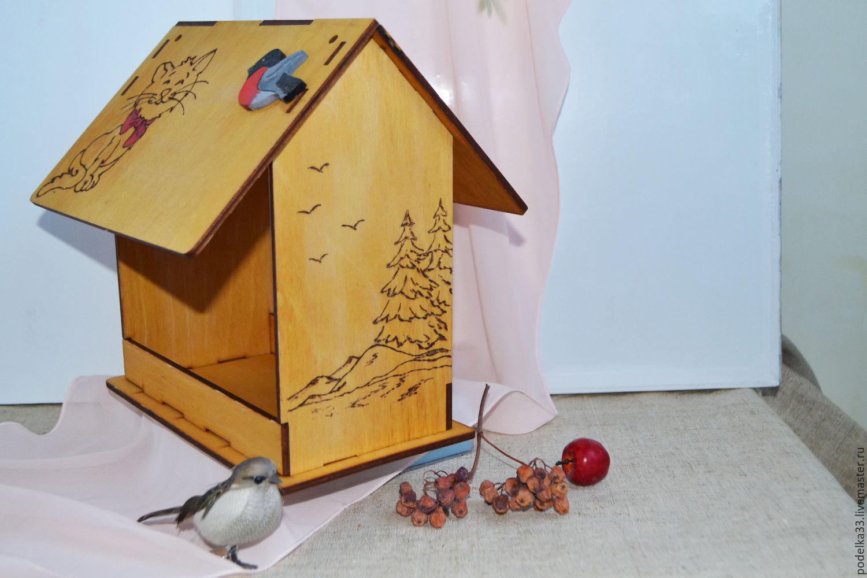 Поделка в сад кормушка для птиц