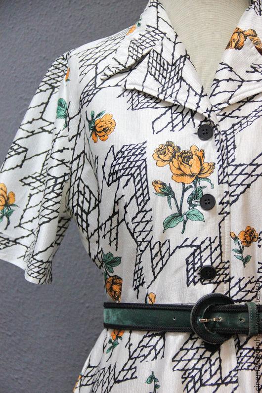 Одежда. Ярмарка Мастеров - ручная работа. Купить Платье 70-е годы винтаж Токио. Handmade. Комбинированный, винтажное платье