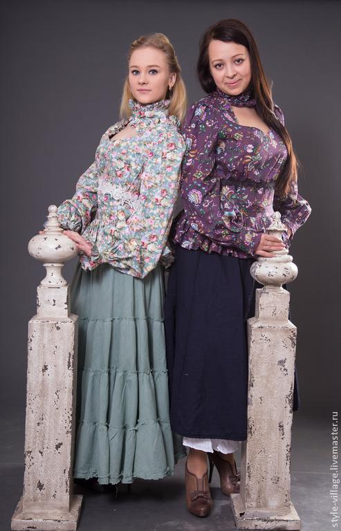 """Блузки ручной работы. Ярмарка Мастеров - ручная работа. Купить Блуза """"Старина"""". Handmade. Зеленый, стилизация"""