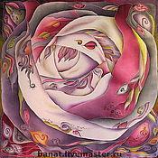 """Аксессуары ручной работы. Ярмарка Мастеров - ручная работа Платок """"Роза - орнамент"""". Handmade."""