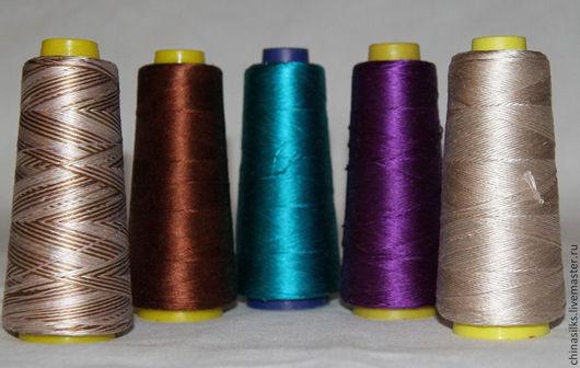 Вязание ручной работы. Ярмарка Мастеров - ручная работа. Купить Шелковые нитки для вязания (Releed Silk) Индия. Handmade. Шелк
