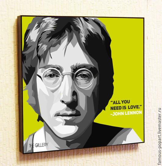 Люди, ручной работы. Ярмарка Мастеров - ручная работа. Купить Картина Поп Арт The Beatles Джон Леннон. Handmade.