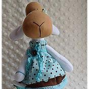 Куклы и игрушки ручной работы. Ярмарка Мастеров - ручная работа Овечка Молли, скворечник бирюза шоколад овца милая овечка. Handmade.