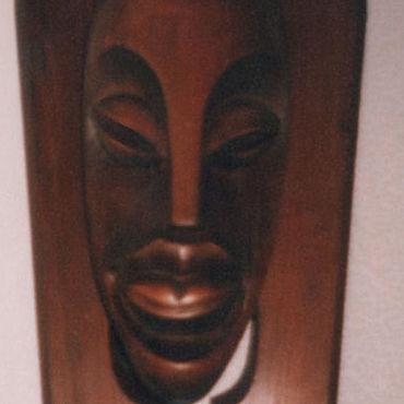 Для дома и интерьера ручной работы. Ярмарка Мастеров - ручная работа Маска интерьерная африканская ручная резьба по дереву. Handmade.