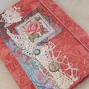 """Канцелярские товары ручной работы. Ярмарка Мастеров - ручная работа Блокнот """"Всё в розочках"""". Handmade."""