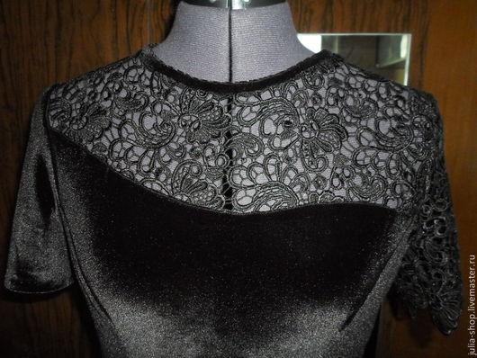 Платья ручной работы. Ярмарка Мастеров - ручная работа. Купить Маленькое бархатное черное платье.. Handmade. Черный, платье вечернее