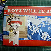 """Канцелярские товары ручной работы. Ярмарка Мастеров - ручная работа """"Альбом для мальчика"""". Handmade."""