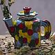 """Чайники, кофейники ручной работы. Ярмарка Мастеров - ручная работа. Купить Керамический чайник """"Детские сны"""". Handmade. Разноцветный, для кухни"""