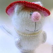 """Куклы и игрушки ручной работы. Ярмарка Мастеров - ручная работа Кошечка """"Мадам в шляпке"""" (Вязаные кошки. Игрушки для детей ). Handmade."""
